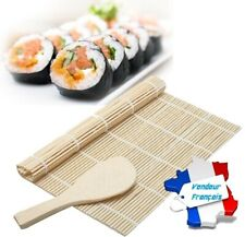 Japonais Oriental Sushi Roll Maker riz Rolling Roller Tapis bambou napperon