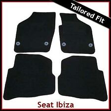 Seat Ibiza 2008 onwards Fully Tailored Fitted Carpet Car Mats BLACK