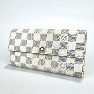 Louis Vuitton Wallet Damier Azur Portfoille Sarah N61735 Authentic Pre-O