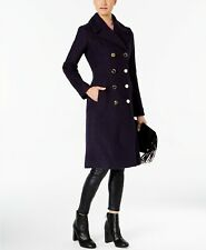 Guess NWT Elegant NAVY Women's Knee-Length Double-Breasted Pea-coat size S,M,L