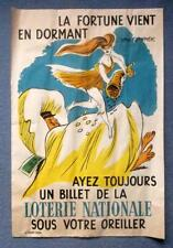 1950's French National Lottery Poster designed by Van Rompaey