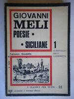 Poesie siciliane 1 La buccolica odi canzonetteMeli Giovannipoesia come nuovo
