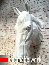 XXL Pferdekopf Wand Figur Skulptur Horse Pferd Kopf Dekoration Pferdebüste weiss