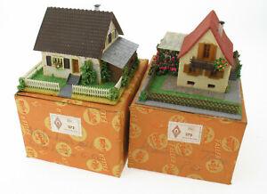 Faller 270 + 272 - Haus + Laube + Haus mit Anbau -mit OVP - H0 Holz / Kunststoff