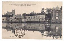 villeneuve-sur-yonne , le quai du commerce et la tour bonneville de marsangy