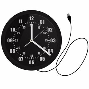 Military Time 24 Hours Display Neon Sign Wall Clock with LED Backlight Military