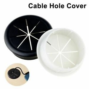 Box Cover Desk Cord Grommet Cable Organizer Line Outlet Port Wire Hole Cover