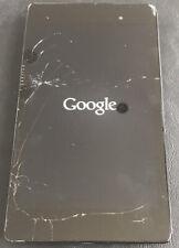 Nexus 7 2013 Black Tablet WiFi 2GB RAM 16GB - Stuck On Google Logo - Faulty