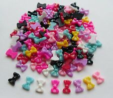 "20pcs x 3D Acrylic Resin Glitter Nail Art ""Sparkly Bows Mix A"" Craft Decoration"