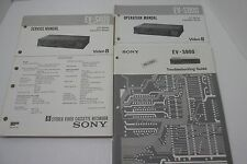Original Sony EV-S800 RMT-V424 Video 8 VCR Service / Operation Manual & Trouble