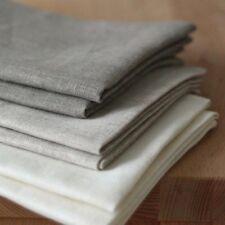 Set von 3 Dichte Leinen Tee-Handtücher Weiss Grau