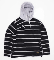 Spao Mens Size S Cotton Blend Striped Black Hoodie