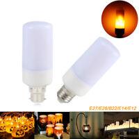 E27 E14 B22 E26 E12 LED Flame Fire Light Effect Simulated Nature Corn Bulbs Lamp
