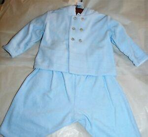 Emile et Rose BNWT Boys Pale Blue 3 Piece Outfit - Jacket, Trousers & Body 0-3m