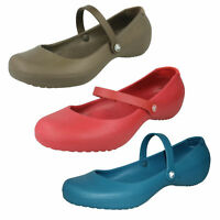 CROCS LADIES SLIP ON MARY JANE STYLE CASUAL SUMMER BALLET FLAT DOLLY SHOES ALICE