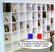 Meuble modulable CLIKUBE Bibliothèque 40 cases