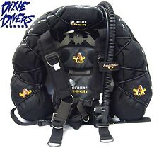 AMARANTO GRANAT TECH ALUMINUM WING AND HARNESS FOR TECHNICAL SCUBA DIVING BCD