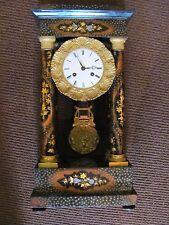 Antique French Portico Mantel Clock Circa 1840  8-Day