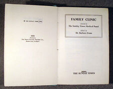 FAMILY CLINIC 1960 1st ed Sunday Times Medical Panel Dr Barbara Evans HB VG