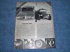 "1962 Pontiac Grand Prix Vintage Ad ""Fraternal Twins"""