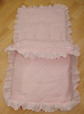 Baby cosytoes/footmuff Rosa Pin Tuck