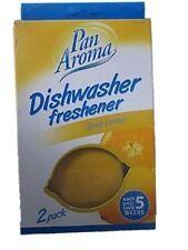 Pan Aroma 2 Pack Dishwasher Freshener Lemon Shape Lasts 5 Weeks Kitchen UK