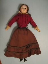 """Early Antique 15 1/2"""" English Wax over Papier Mache Doll"""