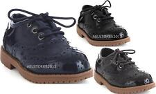 Childrens Baby Boys Formal Shoes Lace Up Wedding Page Boy Christening Kids 4-12