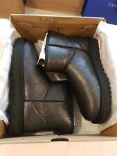 *UGG CLASSIC MINI II IRIDESCENT BOOT, UK 7, EU 40, GOLD, New £155