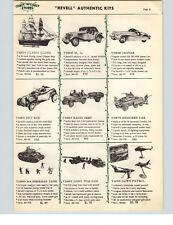1957 PAPER AD Revell Scale Model Kit MG Sports Car Jaguar Radio Jeep Tank Cannon