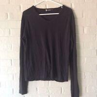 T By Alexander Wang Shirt Top Size XS Black Long Sleeves