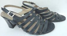 BALLY - Navy Leather Sandals - Block Heels - £425 - UK size 4 - REDUCED