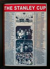 More details for nhl stanley cup winners 1915-2019 - framed print