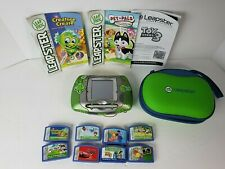 LeapFrog Leapster Learning Game System Green 20200 w/ 8 Games & Case WORKS