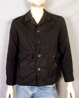 vtg 50s 60s Rockabilly Black Ribbed Nylon Omex Brand Jacket Foreign Maker sz M