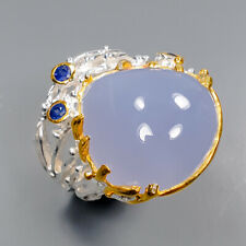 Chalcedony Ring Silver 925 Sterling Handmade jewelry Size 8.5 /R143803