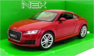 Welly 1/24 Scale Model Car 24057W - 2014 Audi TT Coupe - Red