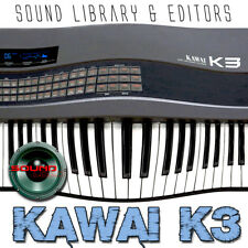 KAWAI K3 - Large Original Factory & New Created Sound Library and Editors on CD