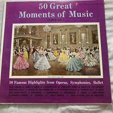 50 Great Moments Of Music Operas Symphonies & Ballet 33 Lp-2 Vinyl Record Album