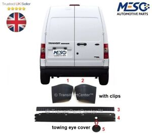 REAR BUMPER+ BUMPER COVER + END CAPS + CLIPS FORD TRANSIT CONNECT 2002-2013