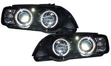 BMW X5 E53 98-03 Black Projector LED Angel Eye Halo Ring Headlights Rhd