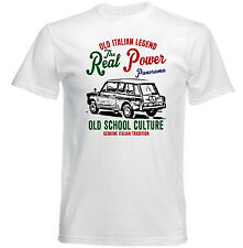 VINTAGE ITALIAN CAR AUTOBIANCHI PANORAMA - NEW COTTON T-SHIRT