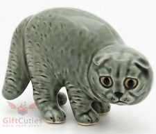 Porcelain Figurine of Scottish Fold Cat Kitty Kitten