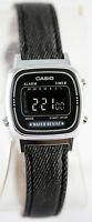 Casio LA-670WL-1B Ladies Black Digital Watch Fabric Band Digital Retro New