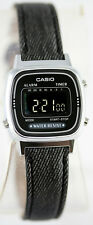 Casio LA-670WL-1B Ladies Black Digital Watch Fabric Band Digital Retro New