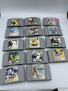 Lot of 14 Nintendo 64 Games N64 Authentic Games Tested in working Condition