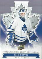 2017-18 Toronto Maple Leafs Centennial Blue Die Cut #82 Felix Potvin - NM-MT