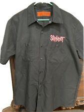 Vintage Y2K Slipknot Concert Tour Rock T Shirt Button Up Black Mens XL 1999