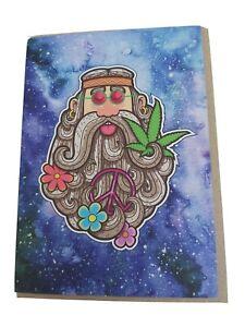 Hippie stoner pot marijuana cannabis 60s peace bohemian birthday greeting card