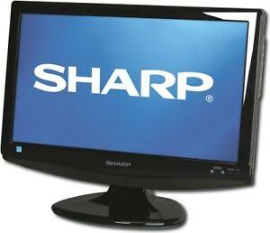 """Sharp AQUOS LC-19SB25U 19"""" 720p LCD HDTV Television/ Gaming Monitor HDMI"""